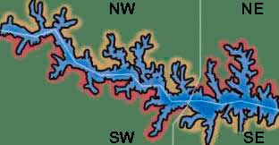 Lake Gaston Quadrants